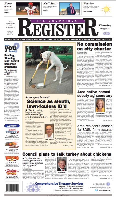 brookings register pooprints cover 09122013